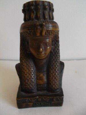Egyptian Al King Bust Figurine - Made In Egypt