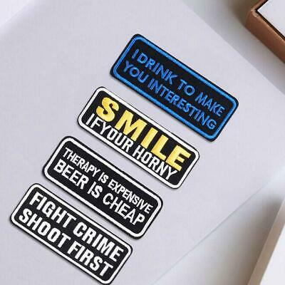 Words Slogan Badge Embroidered Iron on Patches Fabric Sticker Bag Clothes
