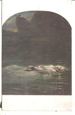 H.dit.Paul Delaroche Picture Postcard the young Martyr Printed in Paris Lapina