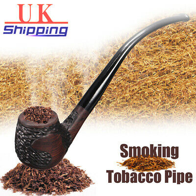 2019 Wooden Wood Smoking Pipe Retro Vintage High-ended Tobacco Cigarette Cigar