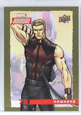 2016 Upper Deck Marvel Annual Gold #79 Hawkeye Non-Sports Card 4et