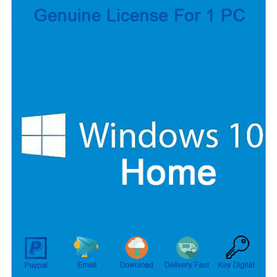 MICROSOFT WINDOWS 10 HOME KEY 32-64 Bit Product MS Win Activation