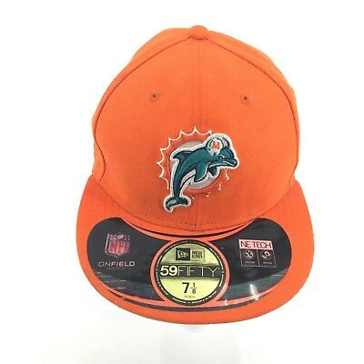 f97a318072d73 Miami Dolphins New Era 59Fifty On Field Sideline Fitted Hat Orange Sz 7-1