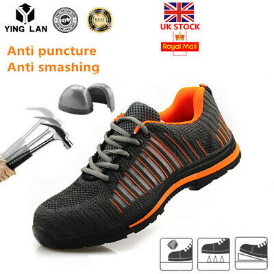 Mens Lightweight Steel Toe Cap Safety Work Trainers Shoes Boots Ankle Hiker UK