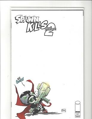 Spawn Kills Everyone Too 2 #1 Blank Sketch Variant Cover Image Comics Near Mint