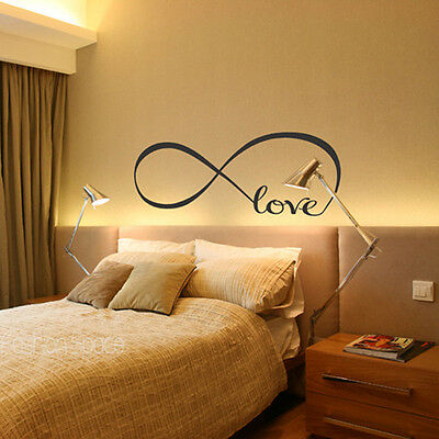 Infinite Love Removable Wall Stickers Art Vinyl Quote Mural Bedroom Decal Pretty
