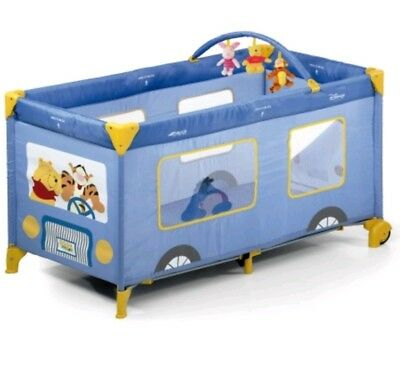 Hauck Disney Dream 'N Play Mobile Travel Cot - Winnie The Pooh Bus USED ONCE