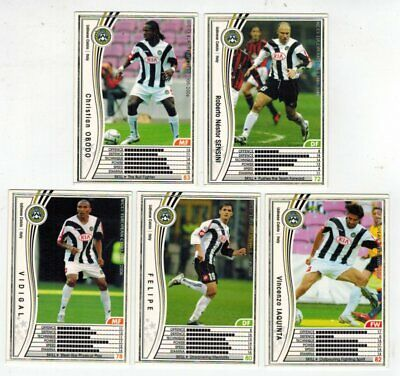 WCCF European Clubs 2005-2006 Lot 5 Cards Udinese Panini