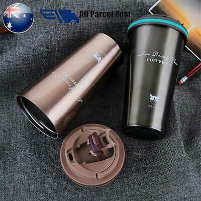0.5L Stainless Steel Leakproof Insulated Thermal Travel Coffee Mug Cup Flask New