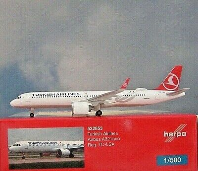 Herpa Wings 1:500 Airbus A320neo Turkish Airlines TC-LSA 532853 Modellairport500