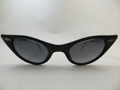 Vintage Liberty USA Cat-Eye  New Grey Sun Lens Fancy Trim Aluminum Sides