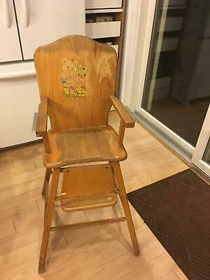 Vintage high chair 1950's