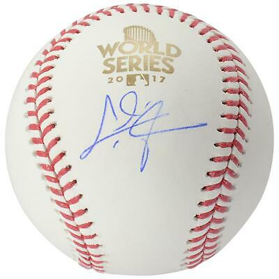eacbf1a3cf3 Chris Taylor Los Angeles Dodgers Signed 2017 World Series Logo Baseball -  MLB