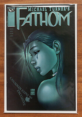 Fathom #8, Canadian Expo '98, Blue Foil, NM, Top Cow, Michael Turner