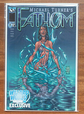 Fathom #1, Wizard World Chicago 1998, NM, Top Cow, Michael Turner