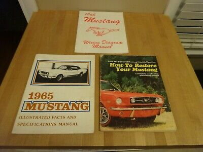 1965 Ford wiring diagram,facts and specifications,How to restore Mustang Manuals