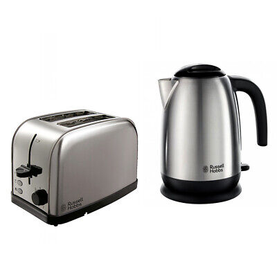 Russell Hobbs 1.7L 3000W Rapid Boil Kettle 18780 & 2 Slice Toaster 23910 Set