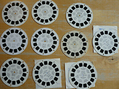 10 View-Master disques schijfjes Belgique World fair Brugge Royal family