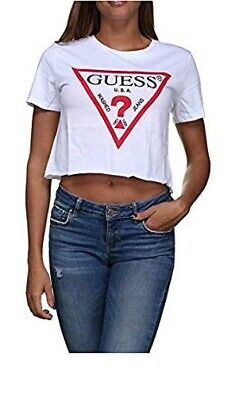 T-SHIRT DONNA GUESS LOGO Triangolo ICON  NEW ARRIVALS P/E 2019