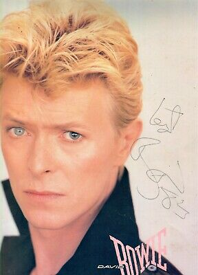 David Bowie (Lets Dance) Signed Autograph