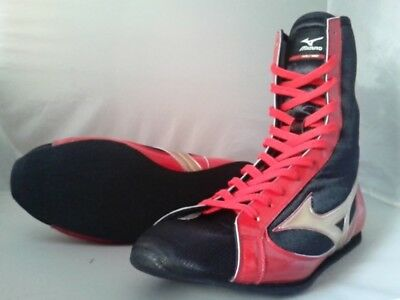 Mizuno Boxing Shoes Short Black x Silver × Red Made in JAPAN BTO Free shipping