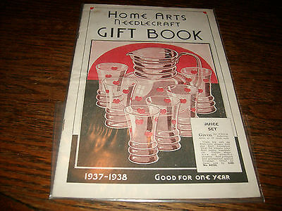 Home Arts Needlecraft Gift Book 1937-1938 Nice Condition White Pages RARE SCARCE