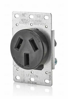 Leviton  5207-S10 R20-0 Electrical Receptacle, 30 Amp, Black,