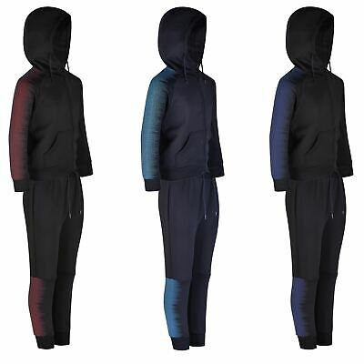Kids Tracksuits Girls Boys 2pc Hooded Top Jacket Pants Bottoms Trousers 3-16 Y