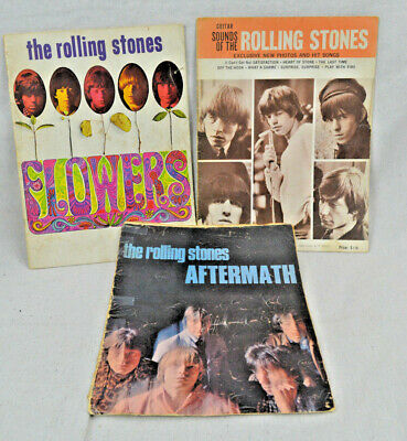 THE ROLLING STONES  Aftermath - Flowers - Sounds of  / Original Sheet Music Book