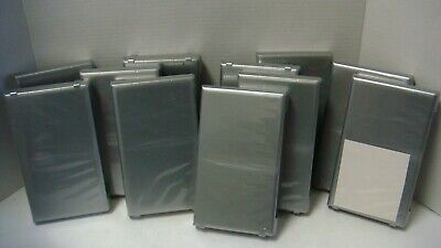 Lot 11 Vhs Tape Storage Cases Empty Grey Gray Sleeves