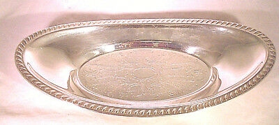 Vintage Silver Plated? Oval Platter/Bowl Unmarked