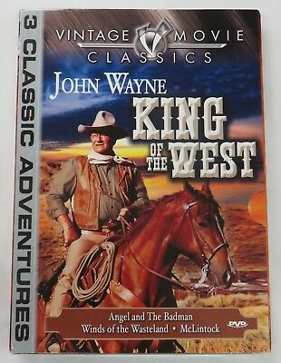 john Wayne - King of the West 3 Classic Adventures (DVD Movie 2005) NEW / SEALED