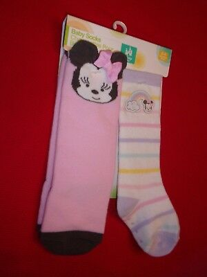 44bfece6272cf DISNEY MINNIE MOUSE Baby Girl Socks Booties Crib Shoes Size 0-6 ...