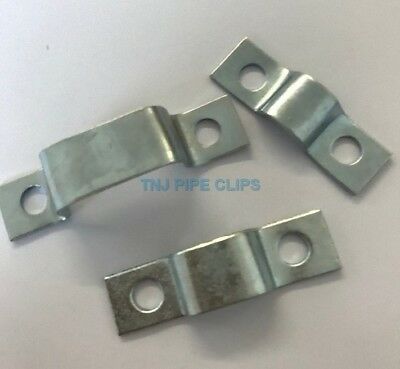 25 x 3 mm Galvanised Mild Stee Pipe Saddle Clamp Anchor 22 mm ID 19 mm IH