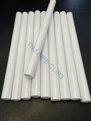 Q10 - 15mm Radiator Pipe Covers WHITE 200mm long - Snappit / Rad Snaps Radsnap