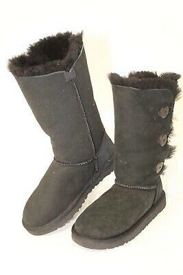 7ed5dfa9494 UGG AUSTRALIA MISMATCH SIZES 2 3 Youth Big Kids Bailey Button Triplet NEW  Boots