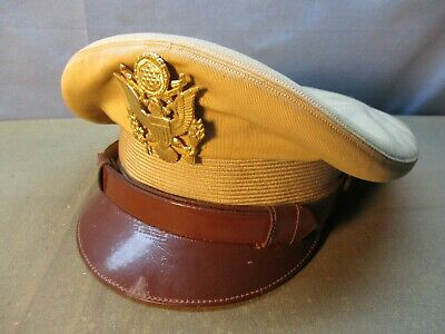 WWII Officer's Leather Visor Hat Cap