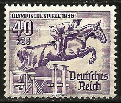 Germany (Third Reich) 1936 MH Berlin Olympics Showjumping 40+35 Pf Mi 616 SG 613