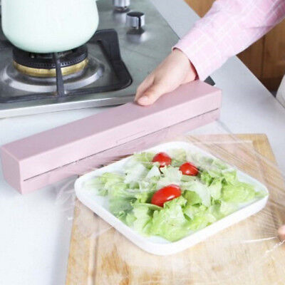 Handy Plastic Kitchen Foil And Cling Film Wrap Dispenser Cutter Storage HoldCYCA