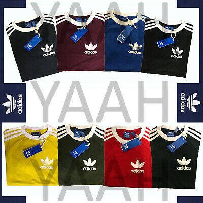Adidas Mens Trefoil California Tees Crew Neck Retro T-Shirt Tee Top