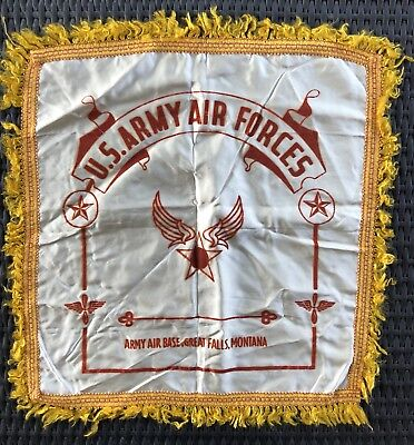 US Military WW2 Pillow Cover U S Army Air Forces Great Falls Montana