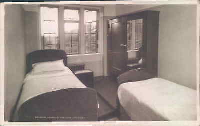 Postcard  Bedroom Littleport Convalescent  Home Cambridgeshire RP T.G.W.U home
