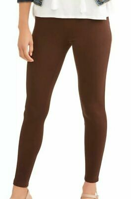 Time And Tru Womens Full Length Brown Warm Fudge Mid Rise Stretch Jeggings 10 99 Picclick