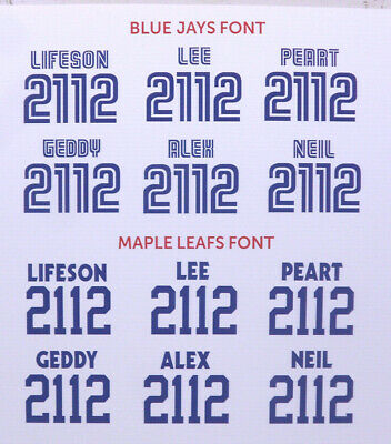 RUSH Toronto Blue Jays Leafs GEDDY LIFESON PEART stickers decals jersey numbers