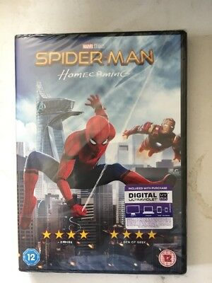 Spider-Man - Homecoming DVD (2017) Tom Holland *NEW* Prompt Free UK 🇬🇧 Post