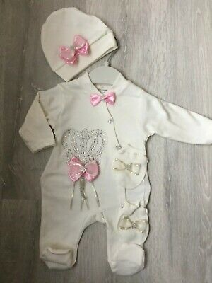 5 Piece Baby Girl Set Baby Shower Gift Clothes Romper Outfit Set Pink
