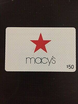 $50 Macy's Gift Card - Unscratched and unused.