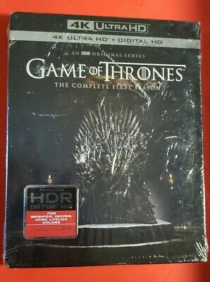 Game Of Thrones Complete First Season 4K Ultra Hd 4 Disc Set + Slipbox Free Ship