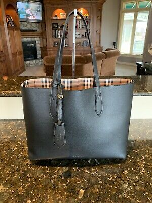 b6756f0a51ef NWT BURBERRY LONDON Check Collection Remington Tote