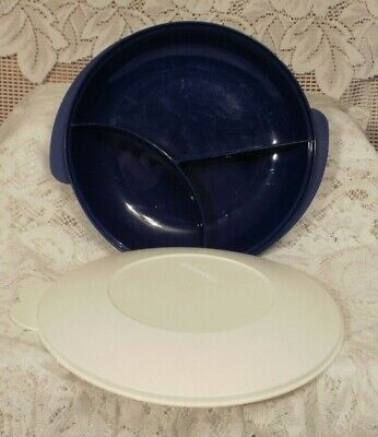 Tupperware Divided Microwavable Dish W/ Seal #2604 & #2605 (#766)